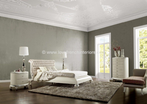 Venezia Bedroom Collection in Fawn Velvet